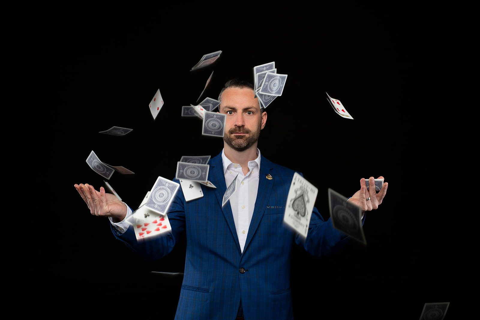 Personal branding photography for magician Paul James by Perth commercial photographer Dennis Tan Creative