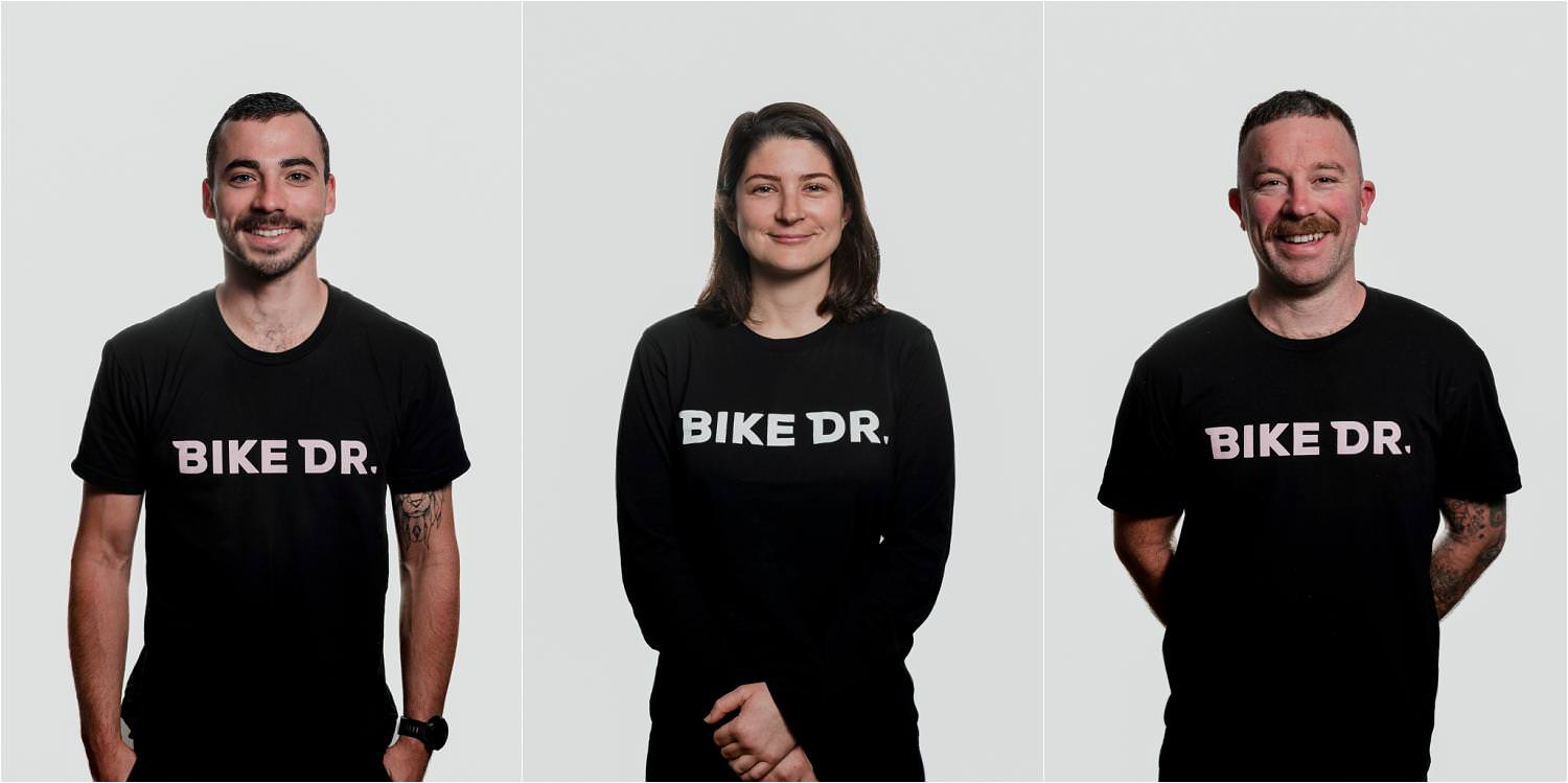 Professional headshots for Bike Dr by Perth commercial photographer Dennis Tan Creative
