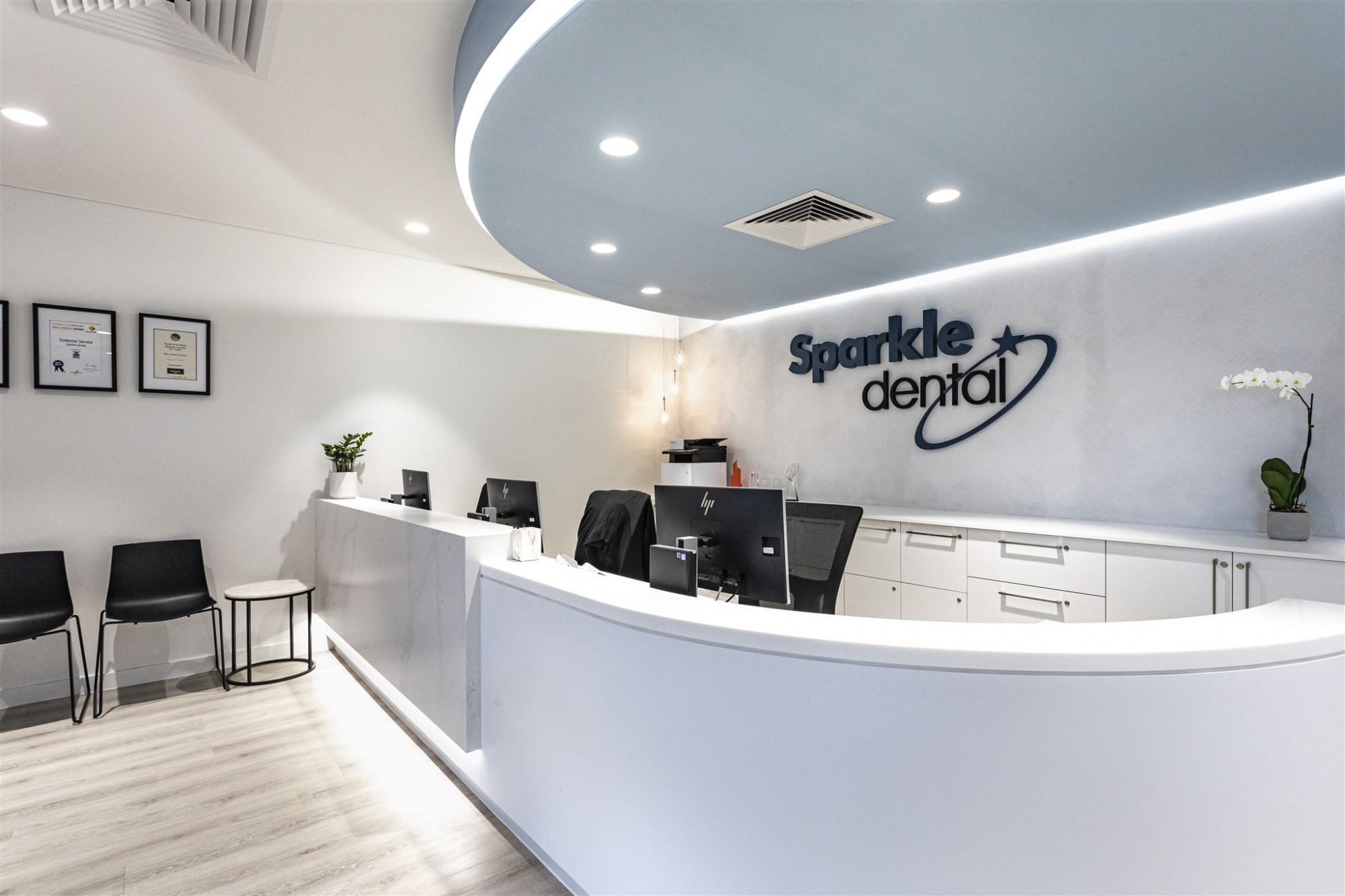 Sparkle Dental photographed by Perth commercial interior photographer Dennis Tan Creative