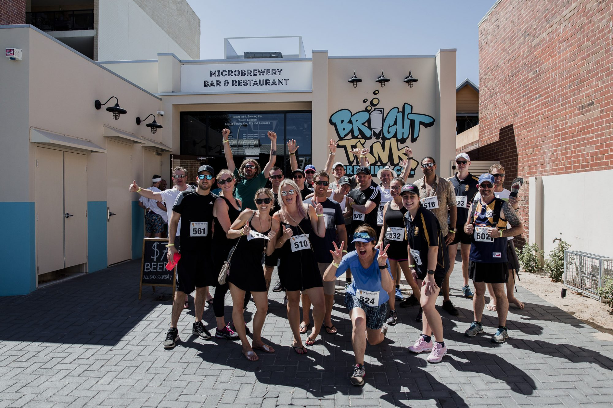Event photography for The Beer Run in Perth by commercial photographer Dennis Tan Creative